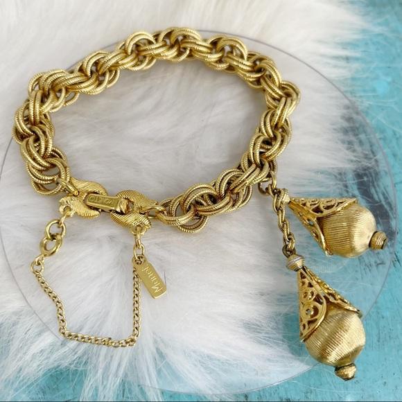 Vintage Monet Gold 60's Bolero Bracelet Book Piece